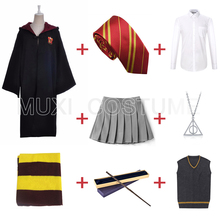 Cosplay Robe Costume Cloak Skirt Scarf Sweater Hermione Granger Harris Necklace Tie Wand