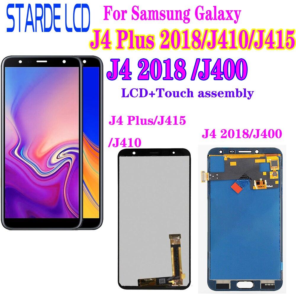 For Samsung Galaxy J4+ 2018 J4 Plus J415 J415F J410 J6 Prime J6 Plus 2018 J610 LCD Display Touch Screen J4 2018 J400 Lcd