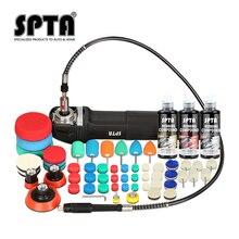 SPTA pulidora de detalles para coche eléctrico, máquina pulidora de 3 pulgadas con rosca M14 de 110/230V, herramienta pulidora de coche
