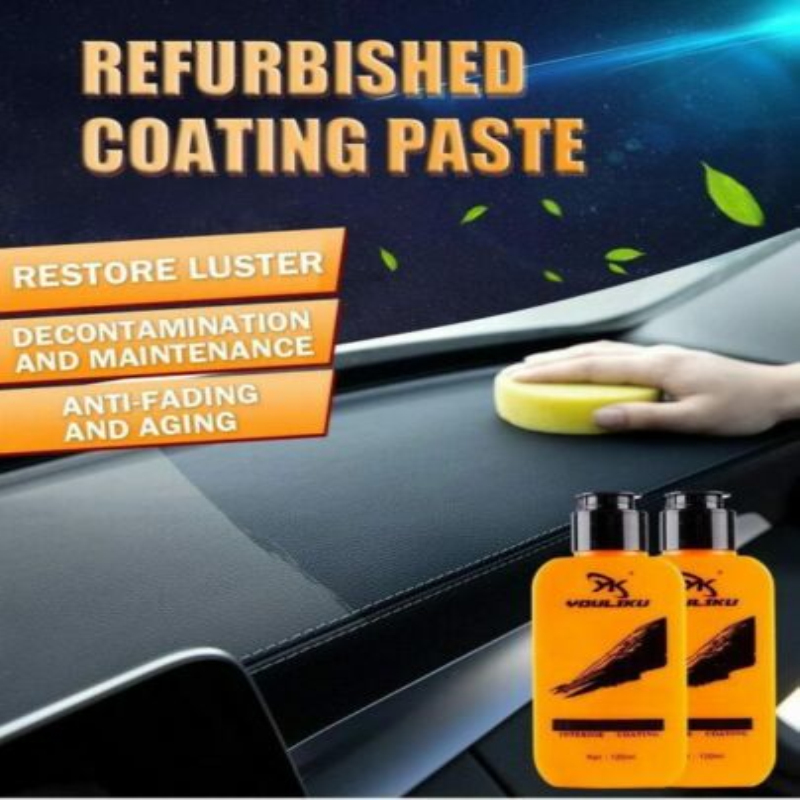 Auto Leather Renovated Coating Paste Decontamination Anti-aging Maintenance Agent Car Seat Center Console Leather Coating Paste