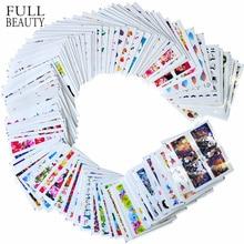 100 шт/партия наклейки для ногтей наборы переводные наклейки для воды различные 100 дизайны красоты Полные Советы из серии «сделай сам» ногтей Шарм для ногтей STZ134-233