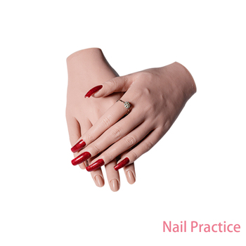 Maniquí de mano falso para practicar uñas, modelo de mano, maniquí adulto con ajuste de dedo Flexible, modelo de visualización de uñas movibles