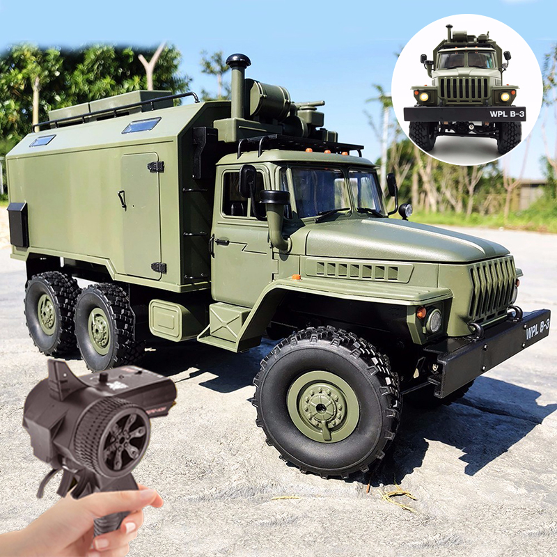 WPL B36 1/16 Soviet Ural Remote Control Military Command Truck 6 Wheel Drive 0ff-road RC  Military Truck Rock Crawler KIT RTR
