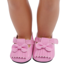 2021 Popular Pink Sandals New Born Baby Doll Shoes for 18