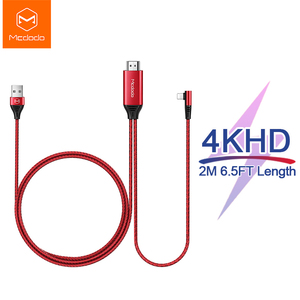 Image 1 - Кабель Mcdodo HDMI HD 4K USB для iPhone X XR XS Max iPad к HDMI TV AV адаптер lightning к HDMI конвертер проектор дисплей HDTV
