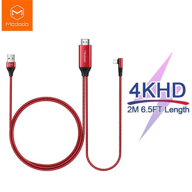 Кабель Mcdodo HDMI HD 4K USB для iPhone X XR XS Max iPad к HDMI TV AV адаптер lightning к HDMI конвертер проектор дисплей HDTV