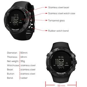 Image 3 - North Edge 디지털 시계 방수 시계 스테인레스 스틸 시계 세계 시간 나일론 시계 밴드 LED 시계 남자 reloj hombre ALTAY2