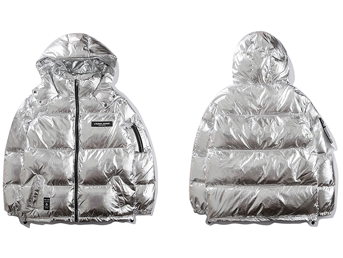 silver winter jacket