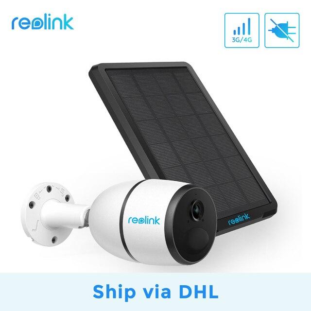 [السفينة عبر DHL]Reolink 4G LTE كاميرا الذهاب 1080p العمل مع بطاقة SIM مانعة لتسرب الماء بطارية قابلة للشحن تعمل بالطاقة ip كاميرا