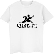 T-Shirts Men Kung-Fu Chinese Cotton Tops Short-Sleeve Funny Summer Tee Shaolin Hip-Hop