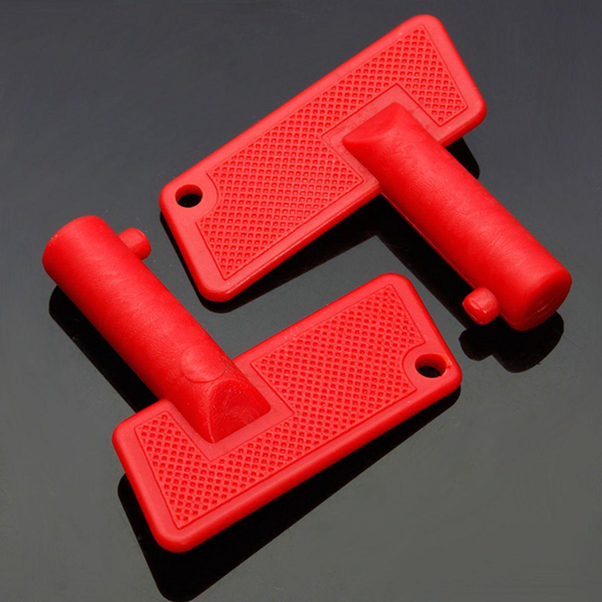 Paire disolateur de pile rouge | Coupure batterie rouge, interrupteur de clés de rechange Marine bateau Auto camion