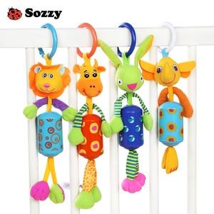 Image 1 - Baby Rammelaar Speelgoed Pluche Kinderwagen Opknoping Bell Ring Mobiles Infant Baby Zachte Crib Kids Educatief Speelgoed Voor Kinderen Gift Sozzy