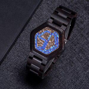 Erkek kol saati BOBO BIRD мужские часы, светодиодный, деревянный, уникальные цифровые часы, мужские, с ночным видением, кварцевые наручные часы, подарок...