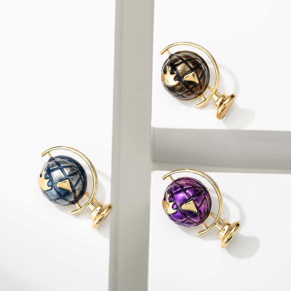 Cindy Xiang 3 Warna Tersedia Enamel Bumi Dunia Bros Wanita dan Pria Pin Anak-anak Perhiasan Fashion Kreatif Desgin Kualitas Tinggi