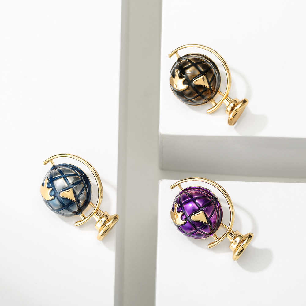 Cindy xiang 3 cores disponíveis esmalte terra globo broches feminino e masculino pino crianças jóias moda criativa desgin alta qualidade