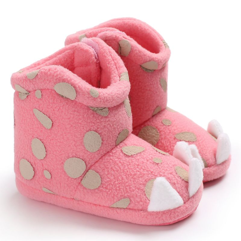 Baby Girl Boots Weixinbuy Brand Newborn Infant Shoes Dots Monster Claw Shaped Bebe Zapatos Winter Warm Booties