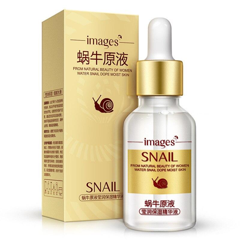 Images Snail Repairing Face Serum Shrink Pores Anti Aging Lifting Firming Treatment Repair Pore Facial Essence Skin Care