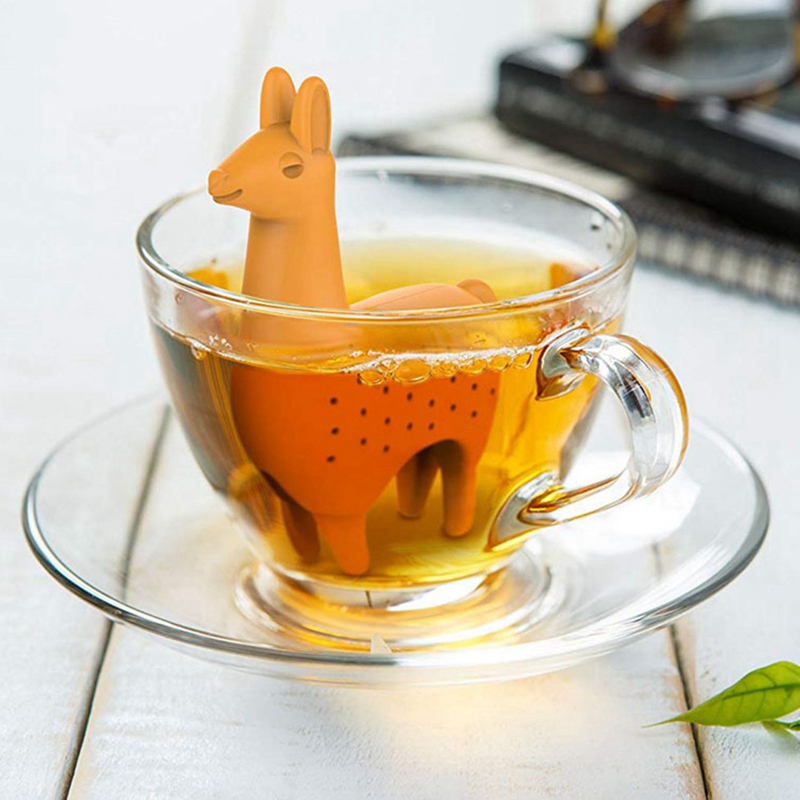 Food Grade Silicone Rubber Llama Tea Infuser Alpaca Animal Tea Infuser Tea Strainer