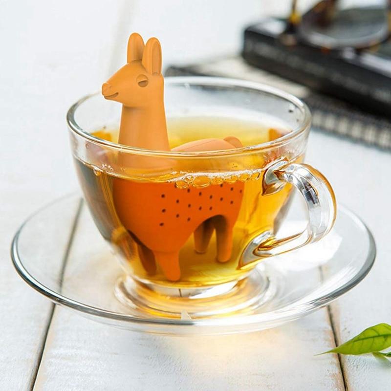 Food Grade Silicone Rubber Llama Tea Infuser Alpaca Animal Tea Infuser Tea Strainer
