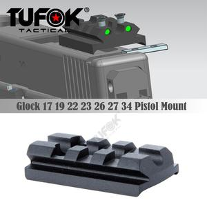 TuFok 3 Slot 4 Slot Glock Sight Mount Plate Fit Glock 17 19 22 23 26 Rail For Viper Sightmark Burris Red Dot Sight