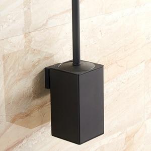 Image 1 - Vidric Wand montiert edelstahl inneren kunststoff eimer wc pinsel halter schwarz, perforierte metall anhänger racks
