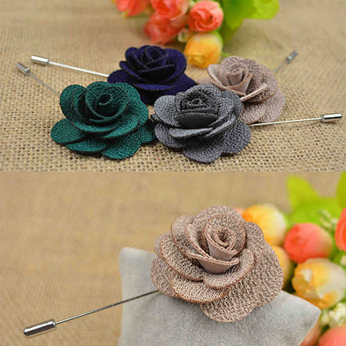 Corea de alta calidad flor Broche tela arte clásico Camelia Broche pines y broches mujer camisa chal Collar Accesorios