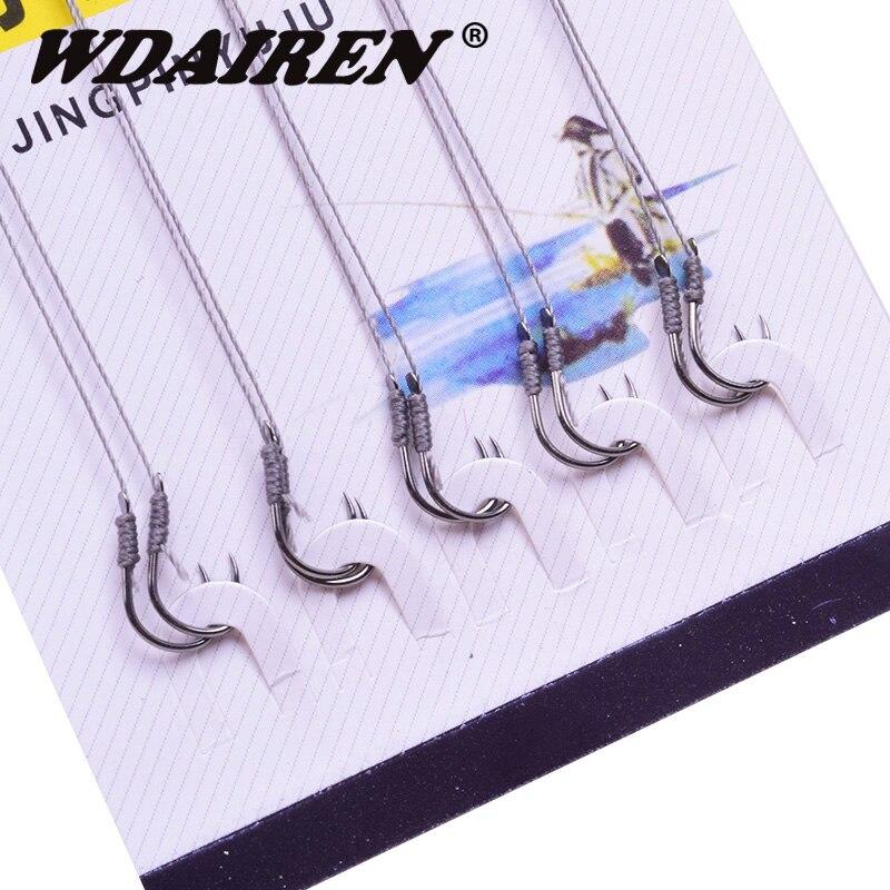 50Pcs Roll Feeder Fishhook Carp Fly Tackle Peche Worm Jig Carbon Steel Hook