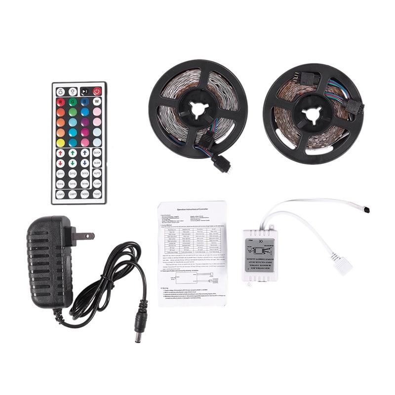 10M 300Leds 3528 Smd Rgb Led Light Strip + 44 Key Ir Remote Controller Non-Waterproof Dc12V 60Leds Flexible Lighting Ribbon Tape
