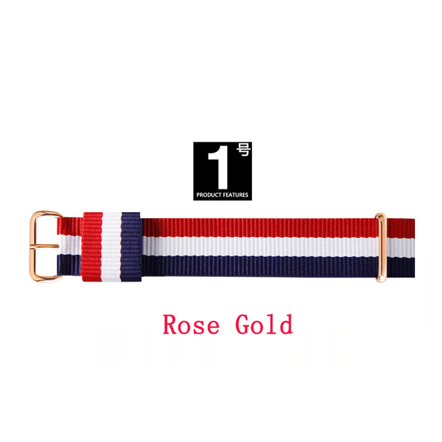 Top brand JH Quality 18mm 20mm rose gold silver lovers men women dw nylon watch strap for daniel wellington watchband for Gift | Watchbands