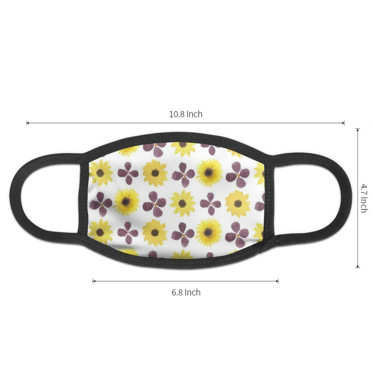NOISYDESIGNS Cute Mouth Muffle Face Mask Unisex Sunflower Style Cover Cycling Anti Dust Facial Protective Cover Masks New