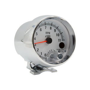 Image 3 - 3.75 Inch Racing Car Tachometer Gauge 7 LED Colors 0 11000 Rpm For 1/2/3/4/5/6/7/8 Cylinder Chrome Shell White Face Meter