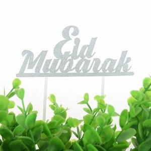 Image 4 - Decoración Para tarta de Mubarak Eid, decoración para tartas de Magdalena DIY, banderas para pastel, cumpleaños para niños, para novia para fiesta de casamiento, Eid musulmán de Ramadán, 1 ud.