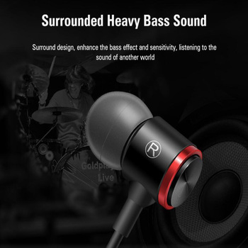 Metal Sport Headset Running Earphone In-Ear Earbuds Clarity Stereo Sound With Mic Headset For IPhone Samsung With box