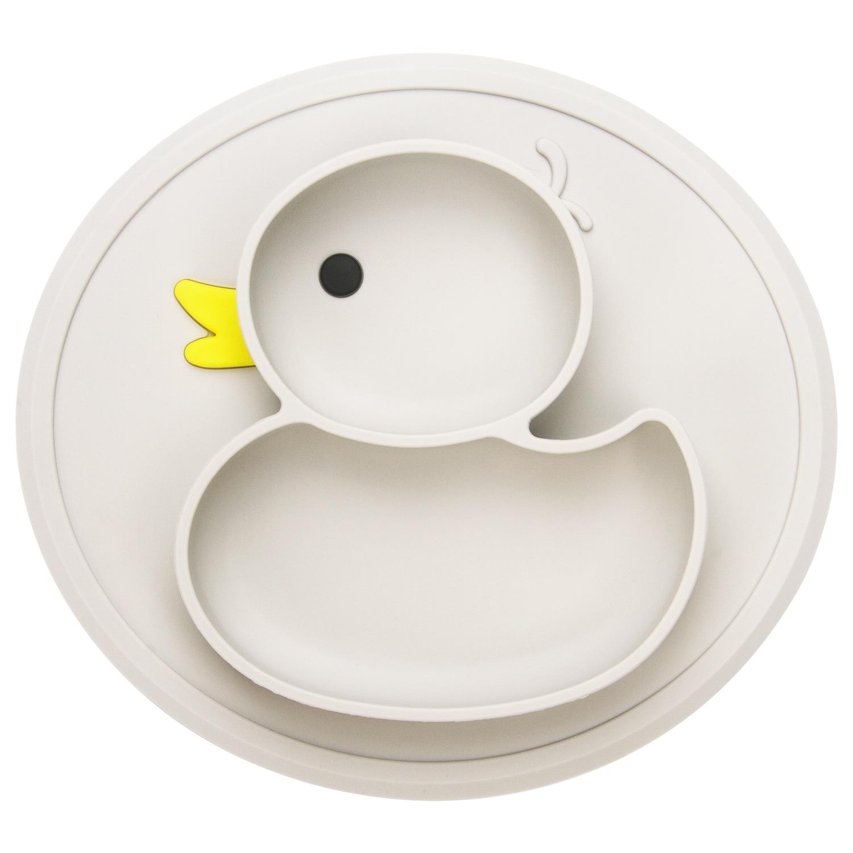 Qshare Baby Platte Ente Gerichte Tisch Matte Silikon platos Saug Fach Antislip Mini Matte Kinder Kinder Mahlzeit Obst Fütterung pratos