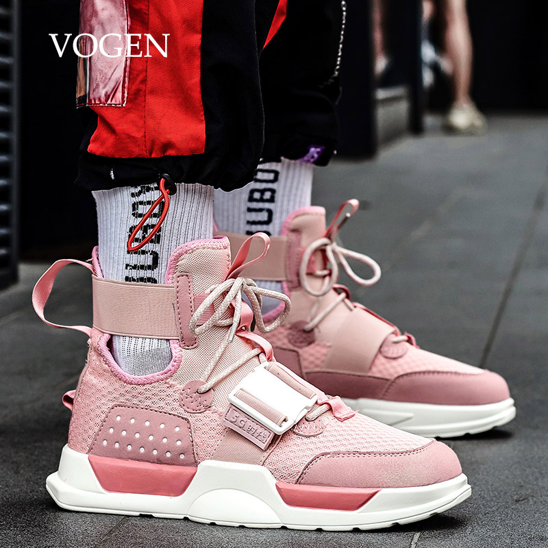Pink Running Shoes For Women Men Big Size 47 13 Couples High Top Sneakers Platform Training Men Sport Shoes Chaussure Homme