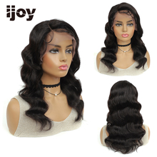 Lace Front Human Hair Wig Loose Wave Hair Colored Natural Black Side Part Wigs Brazilian
