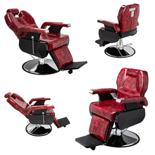 (97 x 70 x 100)cm Beauty Salon Chair Salon Chair Barber  Classic Large Barber Chair Wine Red