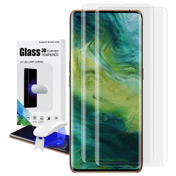 UV Tempered Glass For OPPO Find X2 Pro Full Cover Liquid Glue Screen Protector Curved Glue Film Mobile Phone Accessories Hot