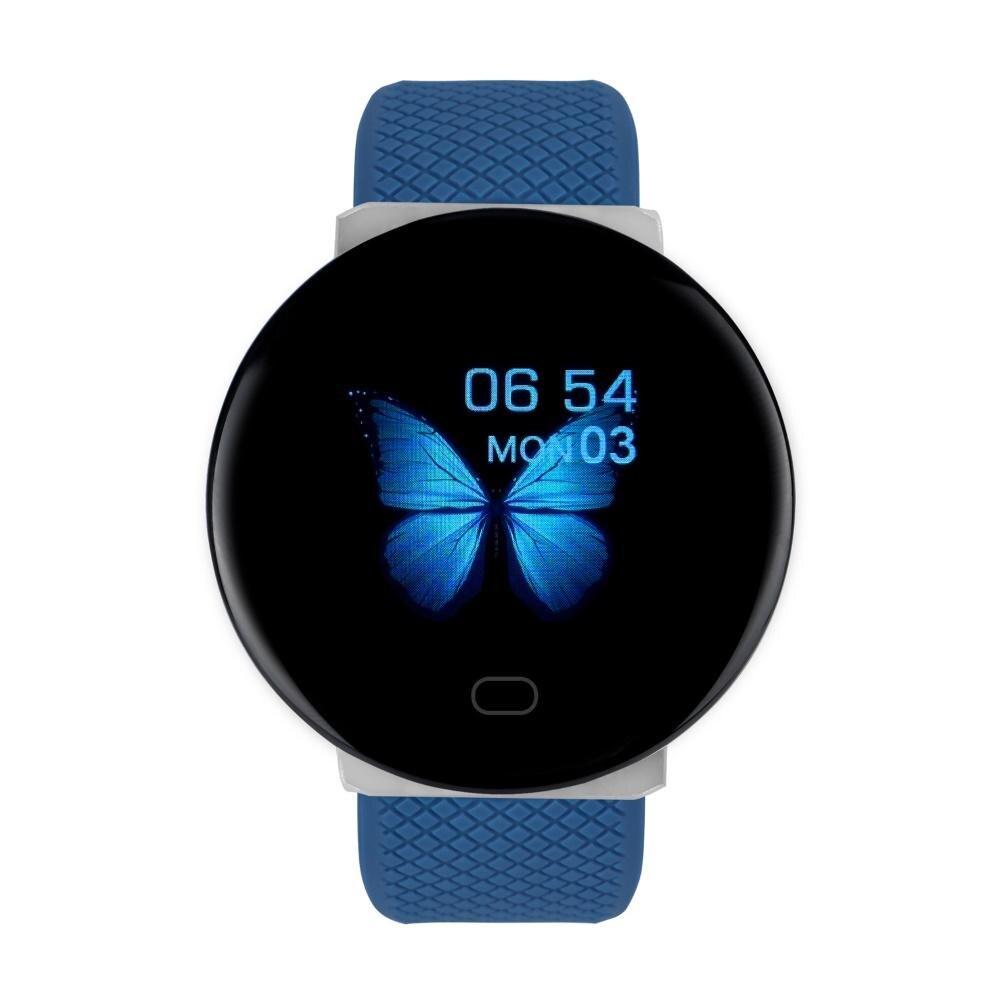 D19 Smart Watches IP67 Waterproof Bluetooth Blood Pressure Heart Rate Monitoring Sports Smart Watch Bracelet Alarm Clock