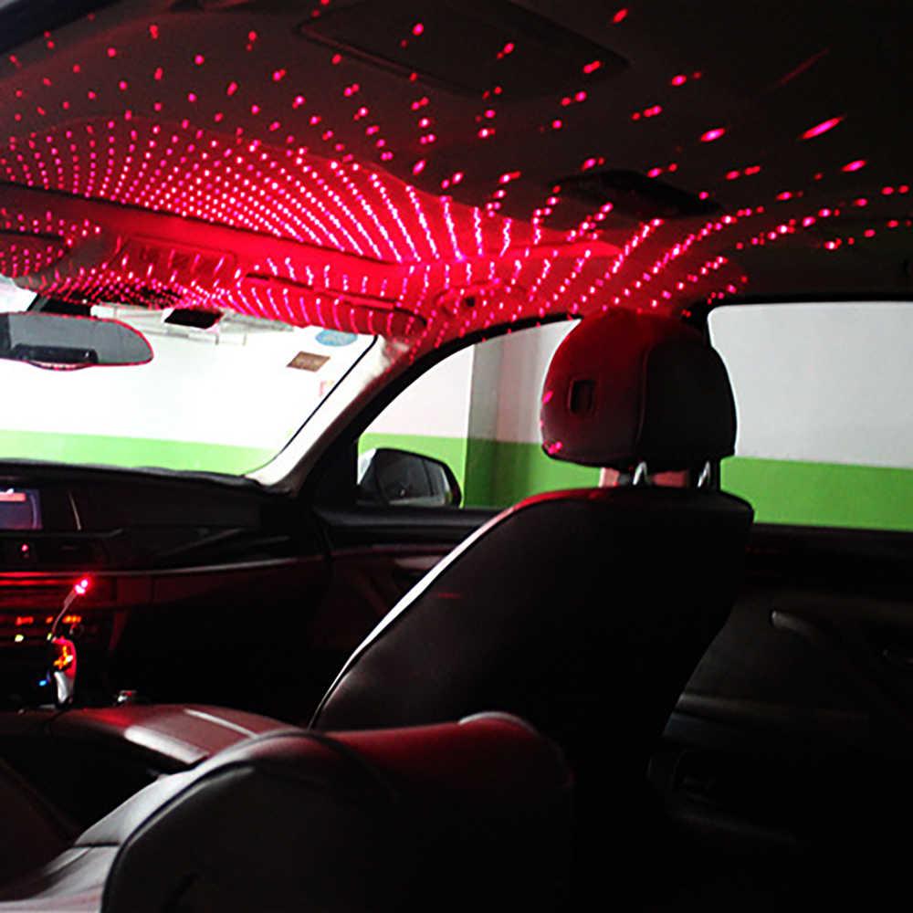 מיני LED רכב גג כוכב לילה אורות מקרן אור פנים סביבה אווירה Galaxy מנורת קישוט אור לייזר המפלגה