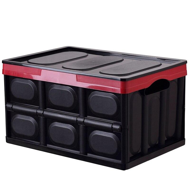30L Одежда Органайзер с крышкой утолщенной многофункциональный ящик для хранения ручек складной практичный Автомобильный багажник Экономи...