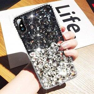 Image 3 - מקרה טלפון בלינג קריסטל יהלומי ריינסטון 3D צבעוני אבנים חזרה כיסוי עבור iphone 11 12 מיני Pro Max XR X 7 8 בתוספת 6 6s בתוספת