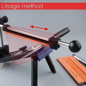 Image 3 - [וידאו] 1 סט חדש קבוע זווית סכין מחדד מקצועי חידוד כלי סט ארוחת אבן משחזת יהלום טחינת סכין לוח