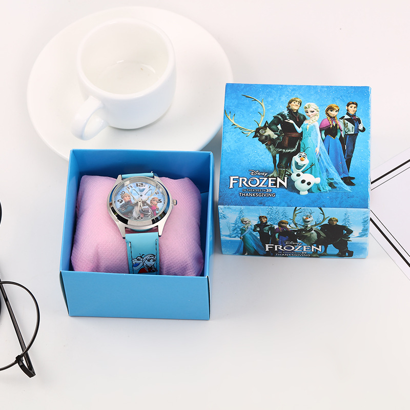 Frozen 2 Silicone Watch Child Quartz Wrist Disney Movies Figure Random Color Random 1pcs Fashion Cartoon Girl's Watch Gift Toy