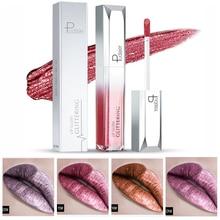 Pudaier Lip Gloss Shimmer Glitter Long Lasting Liquid Lipstick Waterproof Gold Purple Pigment Lip Tint For Women Lip Makeup