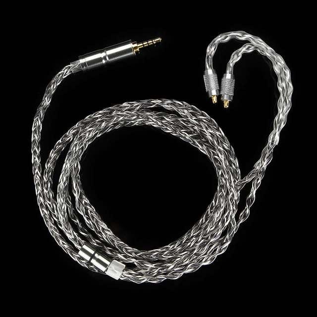 الأصلي BGVP DM6 400 سلك 6N OCC الفضة مطلي سماعة كابل العالمي MMCX 0.78 2pin HiFi سماعات كابل استبدال