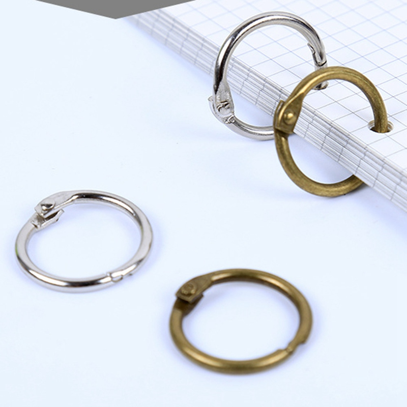 Creative Iron Storage Ring Circle Hoop Hand-book DIY Card Ring Loose-leaf Easy Rings 10 PCS Binding Ring With Hole Punch