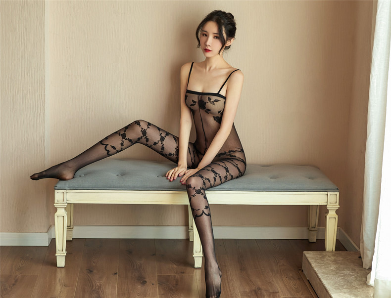 H3dc744e2fa0e477497d7f6d558900dbcv Lencería Sexy íntima para mujer, disfraces sexys de osito, kimono porno, mono de manguera, ropa interior, medias elásticas de malla de color negro ajustado