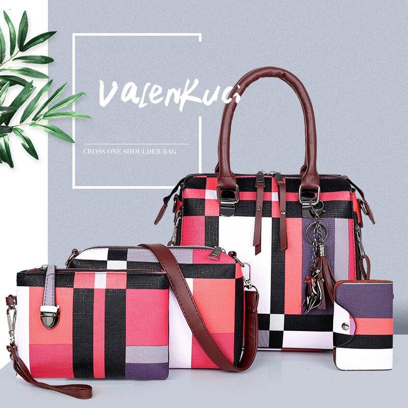 ValenKuci дизайнерские сумки высокого качества роскошные сумки композитная сумка комплект брендовых клетчатых женских сумок с кисточками сумк...