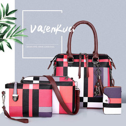 ValenKuci Designer handbags high quality Luxury Handbags Composite Bag Set Brand Plaid Tassel Women Bags Handbags Composite Bag